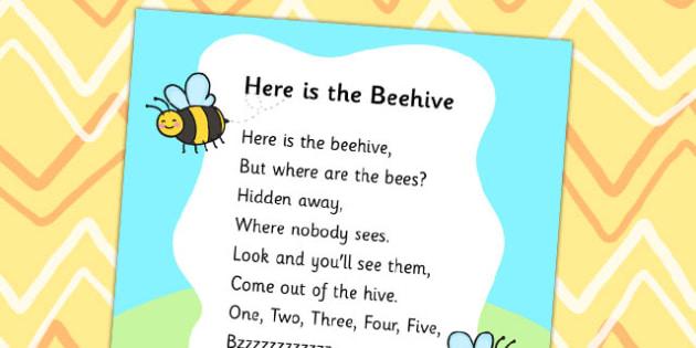 Here is the Beehive Display Poster - display poster, display, posters, beehive, bees, bees display poster, beehive display poster, minibeast display posters, A4 posters, poster, classroom display posters