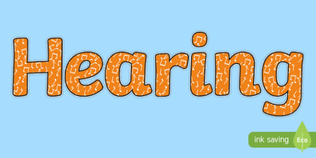 Hearing Display Lettering