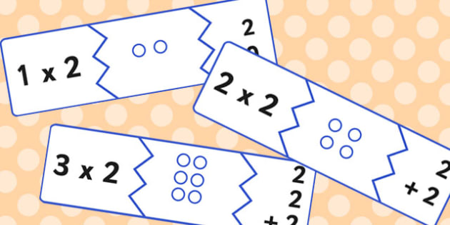 Two Times Table Matching Puzzle Game - times table, matching