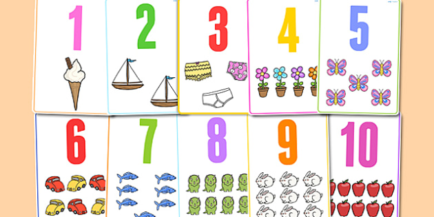 Number Picture Flashcards to 30 - number, flashcards, to 30