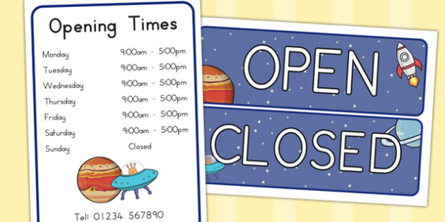 Space Travel Agents Role Play Signs - australia, font, space