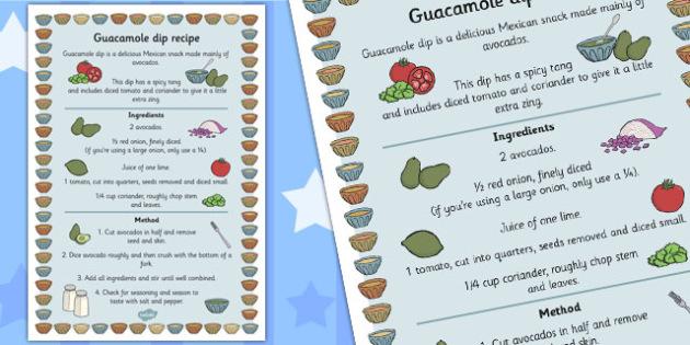 Guacamole Recipe - recipe, guacamole, mexican, avacado, food