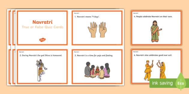 Navratri Quiz Cards