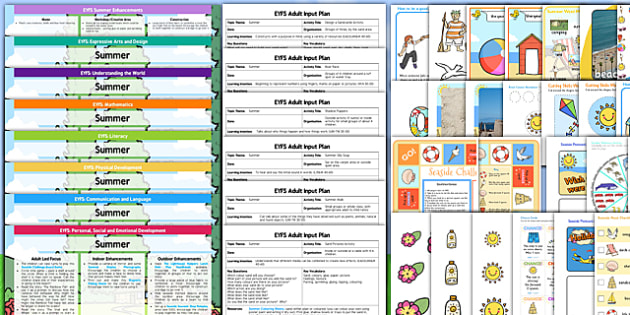 EYFS Summer Themed Lesson Plan Enhancement Ideas and Resources Pack