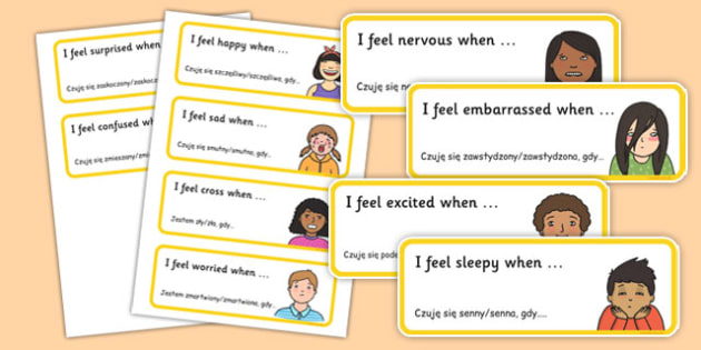 Feelings Rounds Sentence Starters Polish Translation - polish, feelings, rounds, sentence, starters