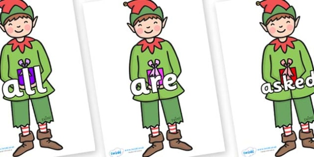 Tricky Words on Elf (Plain) - Tricky words, DfES Letters and Sounds, Letters and sounds, display, words