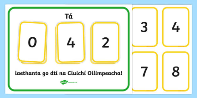 Countdown to the Olympics Display Gaeilge - irish, gaeilge, The Olympics, countdown, counting down, display, banner, sign, poster, resources, 2012, London, Olympics, events, medal, compete, Olympic Games
