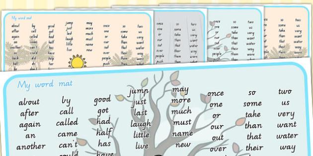 Winter Themed KS1 Word Mat - seasons, weather, keywords, KS1