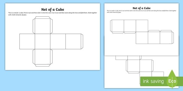 Net of a Cube - net, cube, platonic solids, activity, building, creative