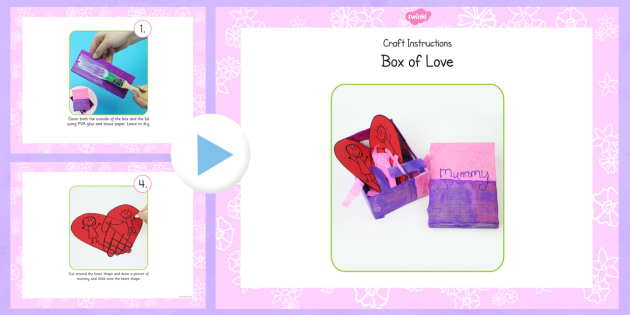 Australia Box of Love Mother's Day Craft PowerPoint
