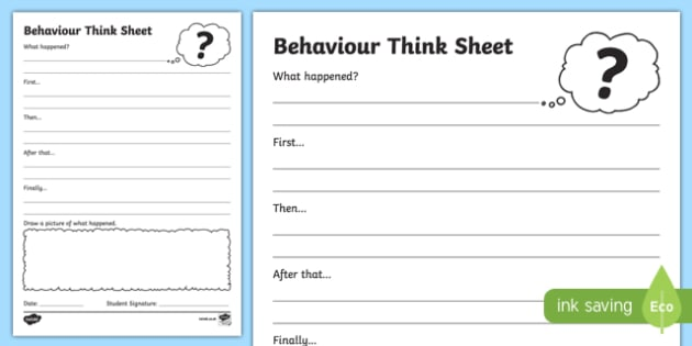 Infants Think Sheet Writing Activity Sheet -Australia, worksheet