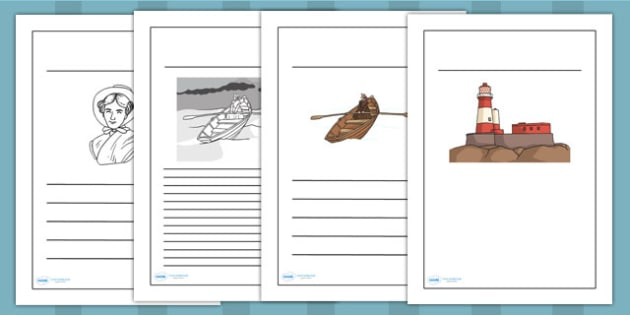 Grace Darling Writing Frames - writing templates, writing aid