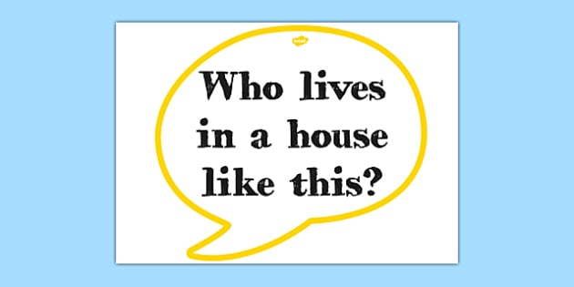 The Three Little Pigs Quote Cut-out Speech Bubble - three pigs, quote
