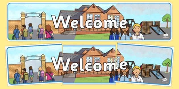 Welcome Display Banner - welcome, display banner, display, banner, greeting