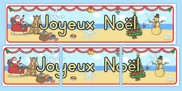 Australia Christmas Display Banner French - christmas, banner, french, xmas