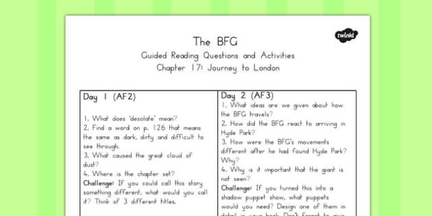 ... 17 to Support Teaching on The BFG - australia, bfg, guided reading