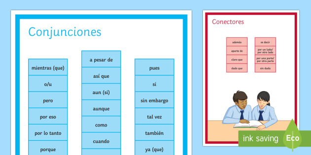 Spanish Conjunctions and Connectives Display Poster