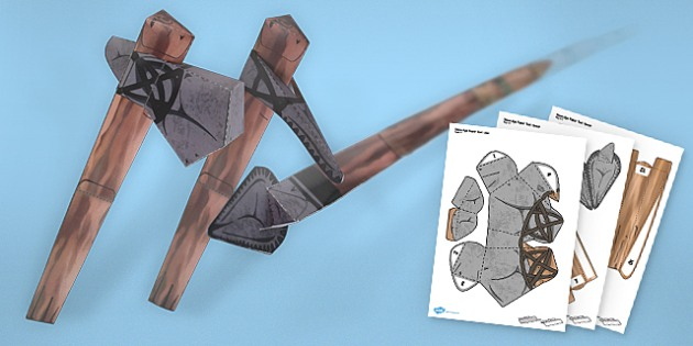 Paper Craft Stone Age Tools Pack - paper craft, craft, stone age