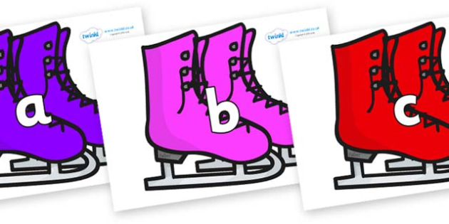 Phase 2 Phonemes on Ice Skates - Phonemes, phoneme, Phase 2, Phase two, Foundation, Literacy, Letters and Sounds, DfES, display