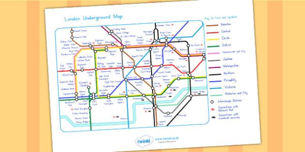 London Underground Map - london, london underground, transport