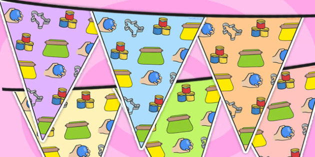 Malleable Area Themed Bunting - malleable, classroom areas, areas
