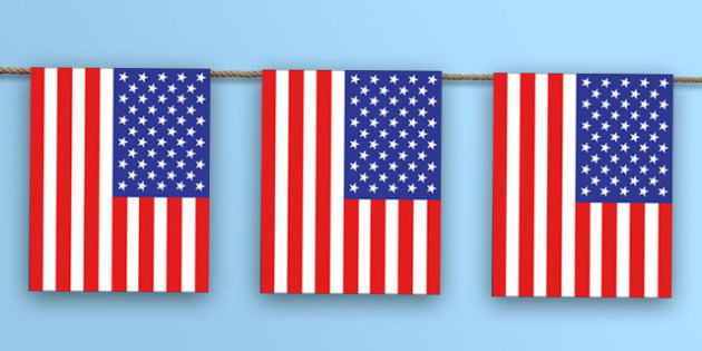 United States Flag Bunting - nation, international, geography, culture, display, north america, olympics