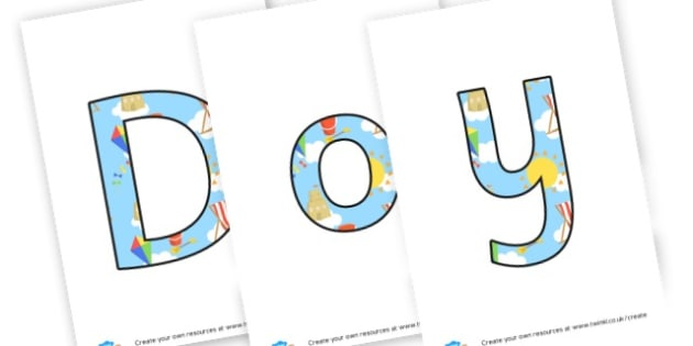 do you like to be beside the seaside - display lettering - The Seaside Display Primary Resources, beach, sun, sand