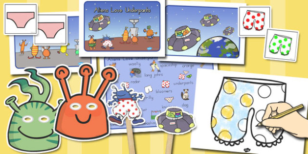 Story Sack to Support Teaching on Aliens Love Underpants - australia, aliens, underpants