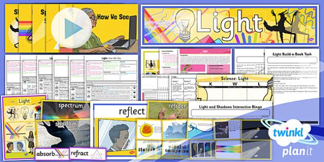 PlanIt - Science Year 6 - Light Unit Pack - planit, science, unit, pack