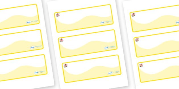 Lily Themed Editable Drawer-Peg-Name Labels (Colourful) - Themed Classroom Label Templates, Resource Labels, Name Labels, Editable Labels, Drawer Labels, Coat Peg Labels, Peg Label, KS1 Labels, Foundation Labels, Foundation Stage Labels, Teaching Lab