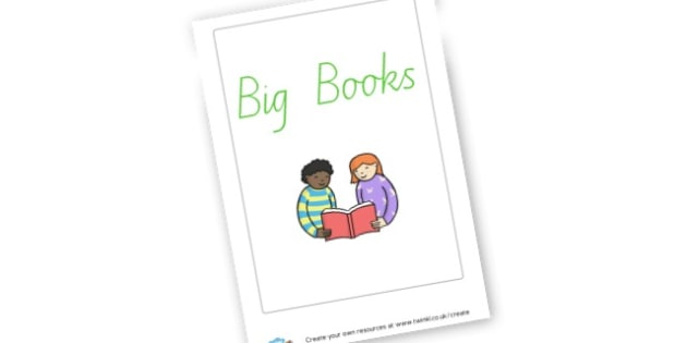 Big Books Label - Reading Area Primary Resources, signs, area, zones, banner, poster