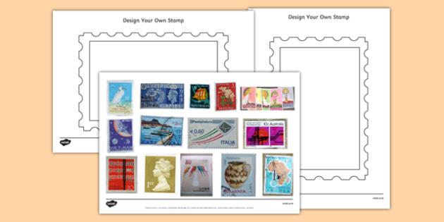 Design a Stamp Activity With Photos - design a stamp, activity, photos, design, stamp