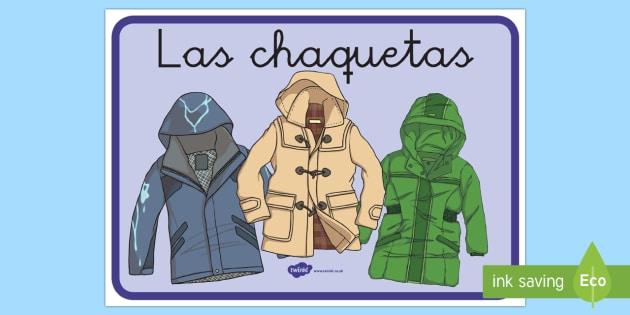 Cartel: Las chaquetas - cartel, pancarta, letrero, póster, chaqueta