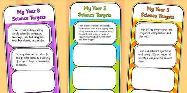 2014 Curriculum Year 3 Science Assessment Bookmarks and Cut Outs