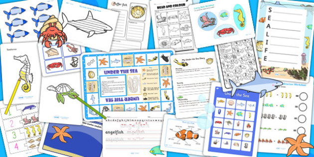 Under the Sea Activity Pack - activities, classroom activities