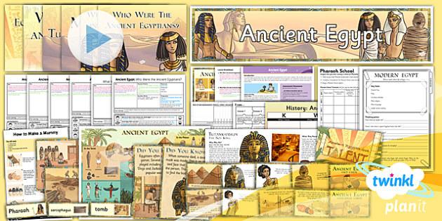 PlanIt - History UKS2 - Ancient Egypt Unit Pack - planit, history