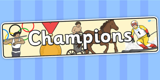 Champions Themed Banner - banner, display, theme banner