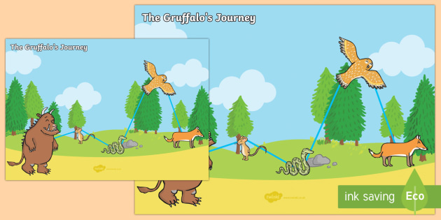 The Gruffalo's Journey Map - gruffalo, journey map, journey