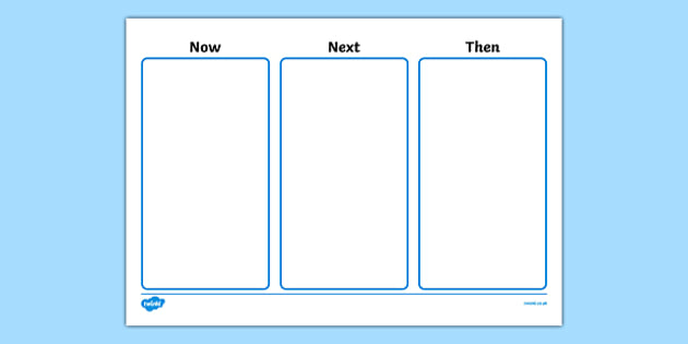 Now Next Then Visual Aid - now next and then visual timetable, three step visual timetable, visual timetable poster, now next then poster, planning, sen