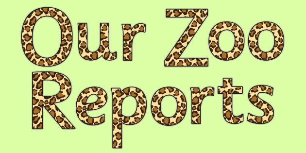 Zoo Reports - Display Lettering - Dear Zoo Display Primary Resources -  Primary Resources, story sa