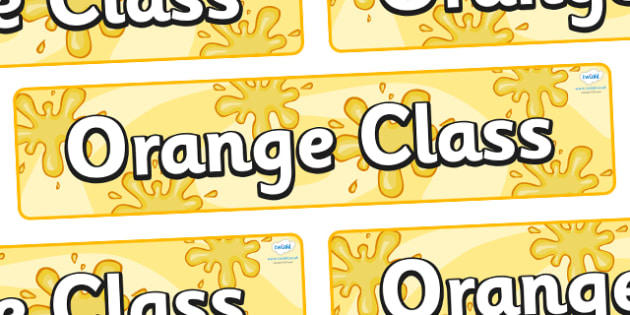 Orange Themed Classroom Display Banner - Themed banner, banner, display banner, Classroom labels, Area labels, Poster, Display, Areas