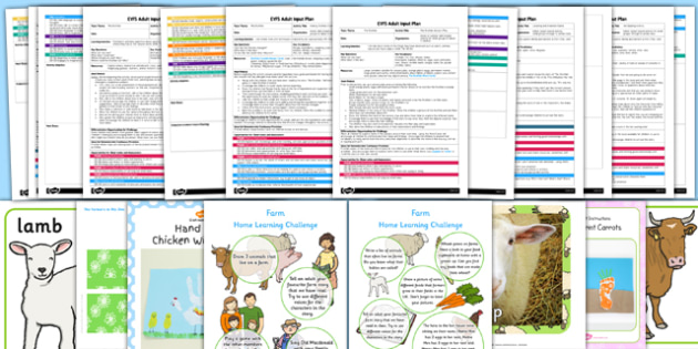 EYFS Farm Themed Adult Input Planning and Resource Pack - planning, pack