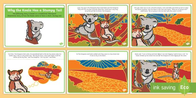 Why The Koala Has A Stumpy Tail Story Cards