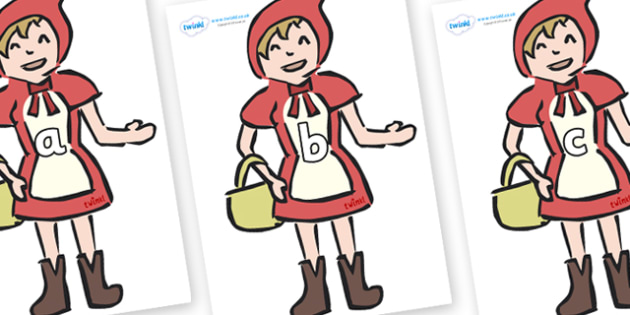 Phase 2 Phonemes on Little Red Riding Hood - Phonemes, phoneme, Phase 2, Phase two, Foundation, Literacy, Letters and Sounds, DfES, display