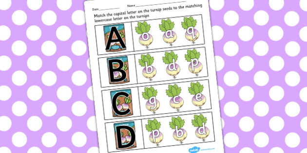 The Enormous Turnip Capital Letter Matching Activity - letter