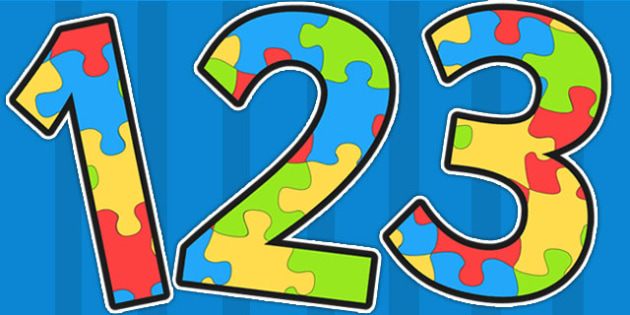 We All Fit Together Jigsaw Puzzle Themed A4 Display Numbers