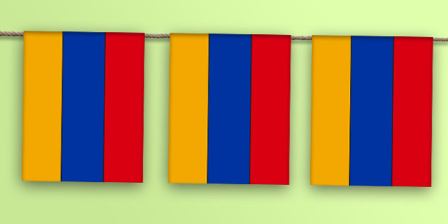 Armenia Flag Bunting - flags, countries, world, olympics, rio, 2016, events, asia, europe, yerevan, eurasia, western asia