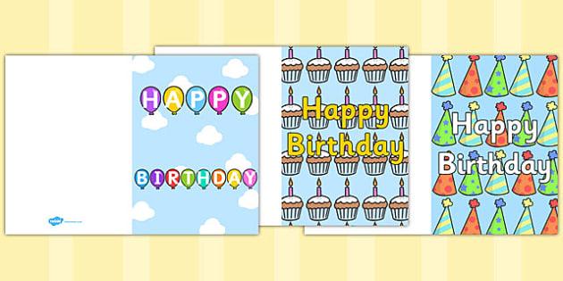 Birthday Card Writing Template - Blank editable card templates, birthday card, happy birthday, birthday, editable, card template, editable template, card design, design, card, card template, foundation stage, Template, Card Design, fine motor skills,