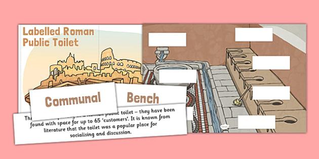 Toilets Through Time Roman Public Toilet Block - Sewer, Flushing, toilets, toilets through time, roman, public toilets, block