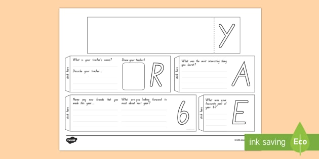 Year 6 Write Up Booklet